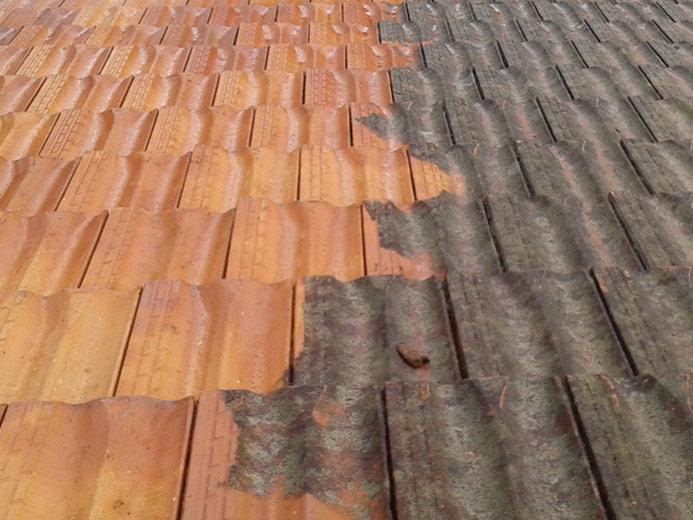 Roof pressure clean